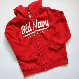 🌺 OLD NAVY 3T Red Hoodie